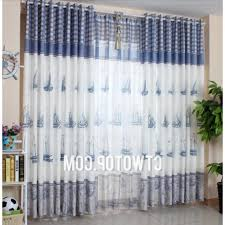 Nautical Window Curtains Beach Style Curtains Society6 Vintage White Nautical Anchors