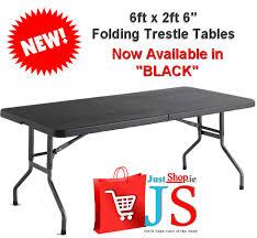 6 plastic folding table 6ft plastic folding table used tables picnic 6 ft veggievangogh