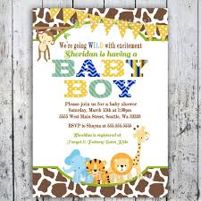 best jungle theme baby shower invitations templates invitations