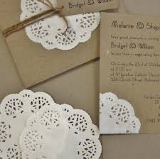 paper invitations doilies wedding invitations unique paper doily invitation set