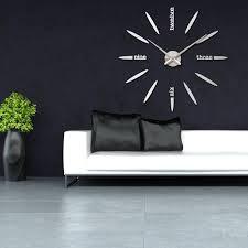 amazon com vipecho modern 3d frameless large wall clock style