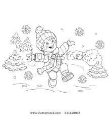 coloring outline cartoon boy stock vector 541149658