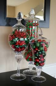 Christmas Buffet Table Decoration Ideas by Christmas Vase Filler Ideas With Tall Clear Glass Apothecary Jars