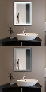Illuminated Bathroom Wall Mirror - mirrors 133693 decoraport vertical led illuminated lighted
