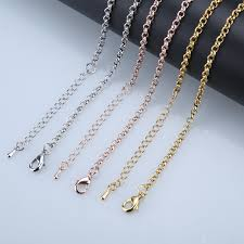 rose gold necklace chains images Hot sale 32 inch copper chains rose gold silver 85cm o style long jpg