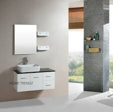 White Vanities For Bathroom by Floating 36 Inch White Cabinet Wall Mount Bathroom Vanity W Mirror