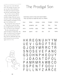 prodigal son worksheets and puzzles 5th grade catechist