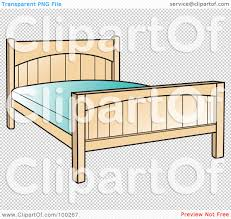 Simple Bed Frame by Royalty Free Rf Clipart Illustration Of A Simple Bed Frame With