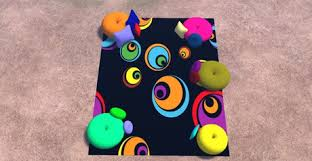Pop Art Rugs Second Life Marketplace Tapete Multiposes Yasmin Popart Couples Rug