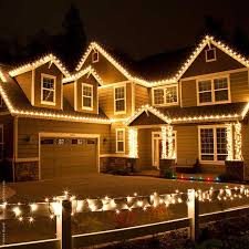 outdoor christmas garland with lights exterior doors ribbons and garland wrapped around pillars with