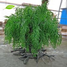 gnw btr014 high quality artificial plastic willow tree with green