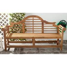 safavieh khara natural patio bench pat6705b the home depot
