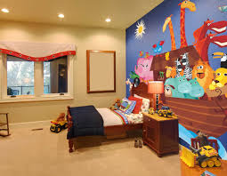 noah u0027s ark mural one wall color with 3 neutral walls baby