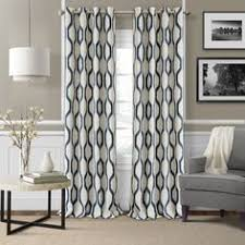Single Panel Window Curtain Designs 1 Piece Taupe Geometric Ikat Pattern Window Curtain 95 Inch Single