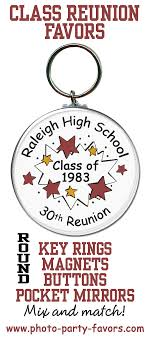 high school reunion favors high school reunion favors idea personalized key rings magnets