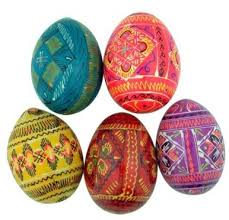 wooden easter eggs authentic set of 5 wooden easter eggs ukrainian wooden easter eggs