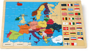 Europe Map Puzzle by Framed Puzzle