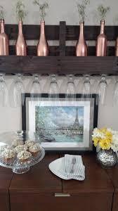 dining room updates dapper house designs copper wine bottles