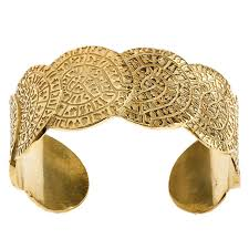 cuff bracelet gold plated images Gold plated silver large cuff bracelet minoan phaistos disk jpg