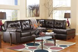 leather livingroom sets alliston bonded leather sectional