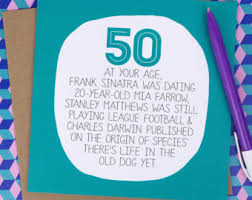 50th birthday cards etsy