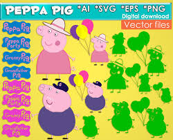 Instant Home Design Download by Peppa Pig Svg Png Eps Ai Vector Files Clipart Instant