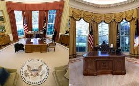 Oval Office White House Oval Office Redecorated President Donald Trump