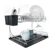 Dish Drainers 2 Tier Chrome Dish Rack Kmart