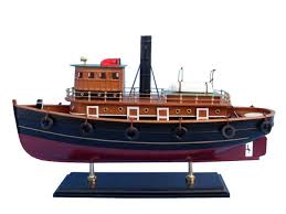 amazon com hampton nautical wooden river rat tugboat model ship