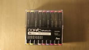 cheap copic sketch markers 25th anniversary limited edition set