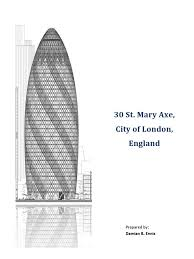 report on 30 st mary axe nature
