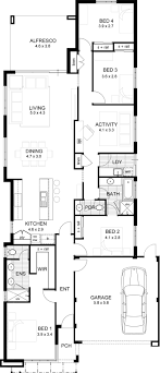 home plans narrow lot single storey floor plans simple house plans for narrow lots