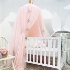 Pink Canopy Bed White Pink Gray Khaqi Princess Crib Canopy Nursery Canopy