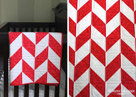 simple herringbone baby quilt the homes i have made