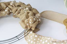how to make a burlap wreath landeelu