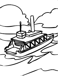 coloring pages ferry boat kids drawing and coloring pages marisa