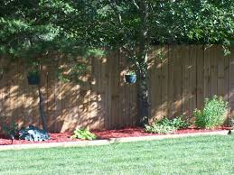 Fence Landscaping Ideas Lovable Backyard Fence Landscaping Ideas Garden Decors