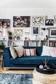 Blue Sofa In Living Room Amazing Wall Gallery Of Color Blue