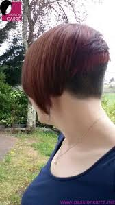redhair nape shave the a line bob w shaved nape inverted bob s pinterest shaved