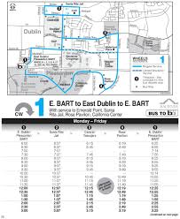 Dublin Bart Map by Local Routes Wheelsbus