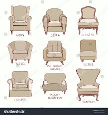 vector visual guide accent chair design stock vector 352587572