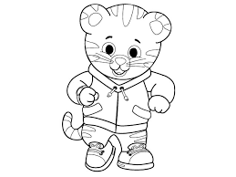 coloring pages of tigers daniel tiger neighborhood coloring pages coloring pages