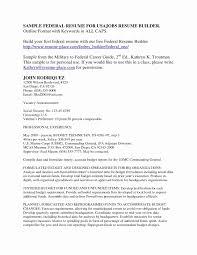 federal resume exles veteran resume builder best of federal resume templatesanklinfire