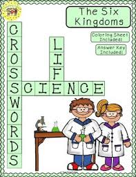 six kingdoms crossword puzzle by teaching tykes tpt