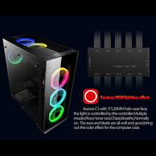 120mm rgb case fan aigo c3 5 computer case cooler rgb 120mm silent light fan speed