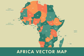 United States Map Abbreviations by Africa Vector Map Illustrations Creative Market