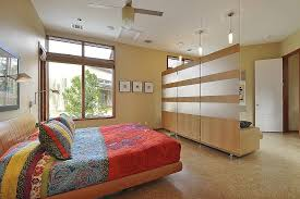 Living Room Divider Ideas Bedrooms Contemporary Bedroom With Colorful Bed And Modern