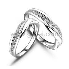 couples wedding rings engraved unique platinum plated couples wedding rings for 2
