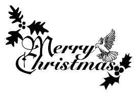 merry christmas and happy new year clip art u2013 black and white