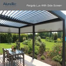 china aluminum pergola gazebo with adjustable roof louvers china